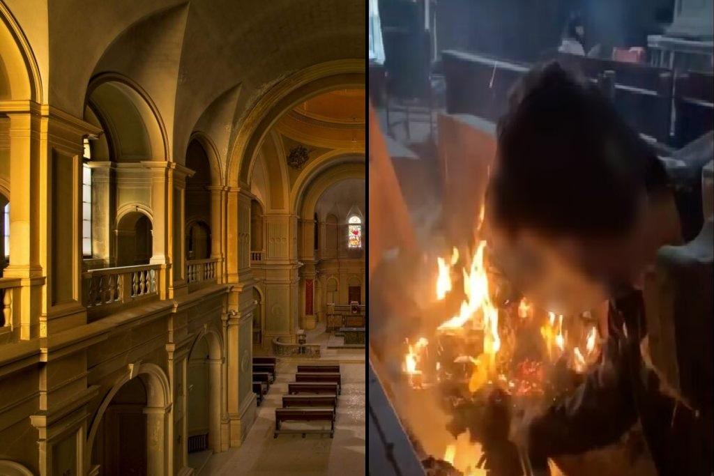 Principio di incendio nell'ex chiesa del sanatorio lombardo